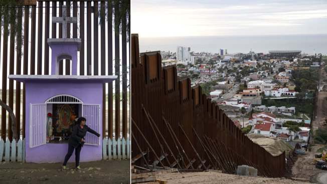 US Barrier's Tricky Course Past Homes, Tiny Shrine in Tijuana Illustrates Border-Long Conundrum