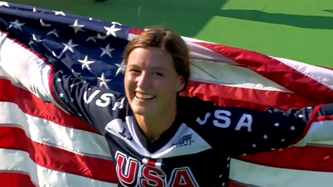 Women's BMX: Team USA's Alise Post Wins Silver Medal