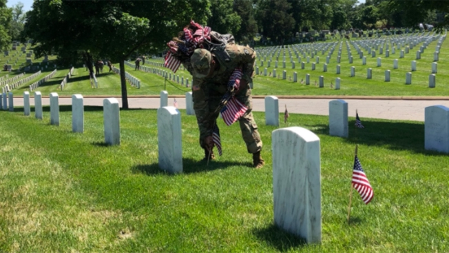 Soldiers Place More Than 230K Flags at Arlington National Cemetery
