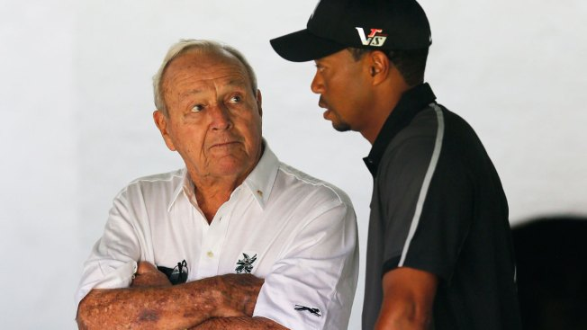 Celebration of Palmer Brings Questions About Woods