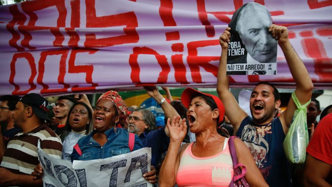 Protesters Rally in Brazil's 2 Largest Cities Against Acting Leader Michel Temer