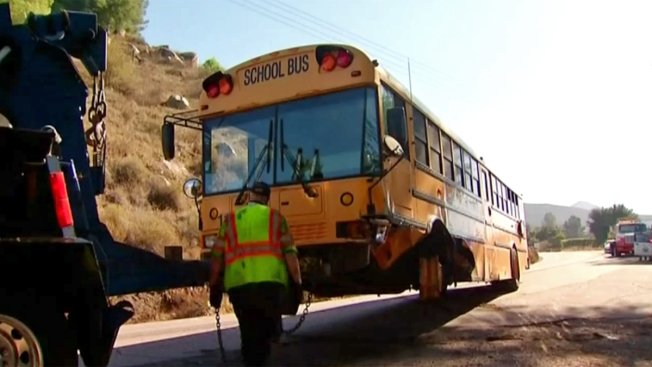 55 Students on Bus During Accident: CHP