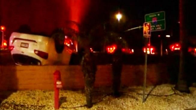 Car Strikes Water Line at I-805 & Main Street