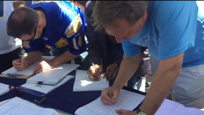 Chargers Turn in Ballot Initiative Signatures