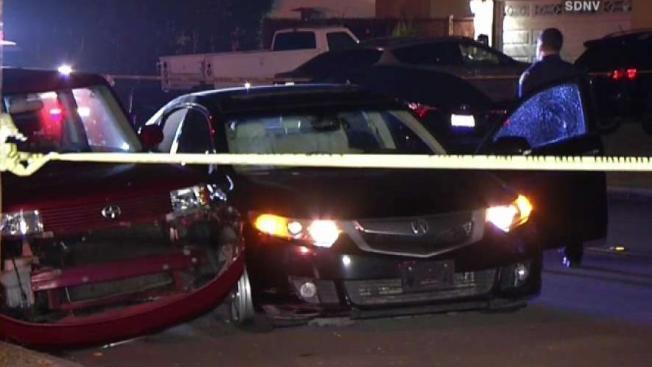 SDPD Stolen Car Suspect Shot Suspect Nearly Ran Over Officer - Stolen car