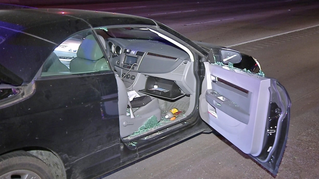 DUI Suspect Passes Out at Wheel on Freeway