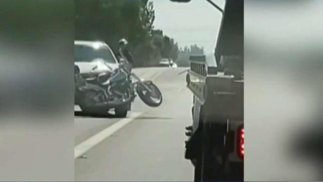 Driver in Lake Elsinore Almost Hits Two Motorcyclists