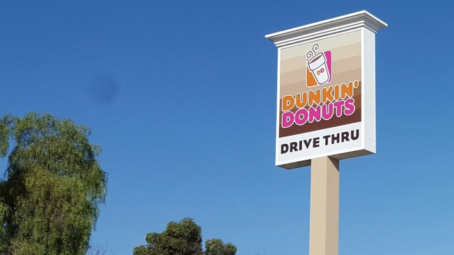 Sign Flies High at Site of New Drive-Thru Dunkin' Donuts in National City