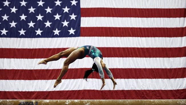 [NATL] Top Sports Photos: Simone Biles Lands Historic Triple-Double, and More