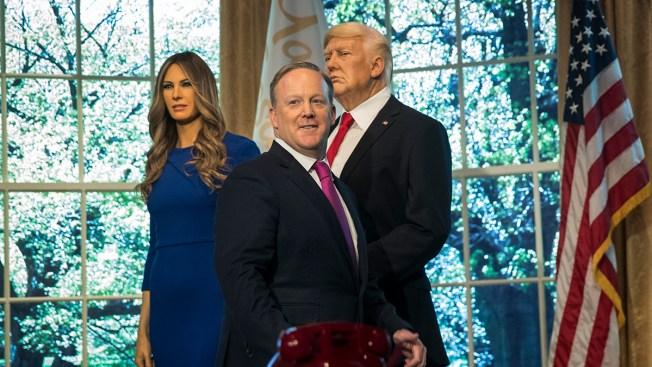 Spicer Unveils Melania Trump Wax Figures at Madame Tussauds