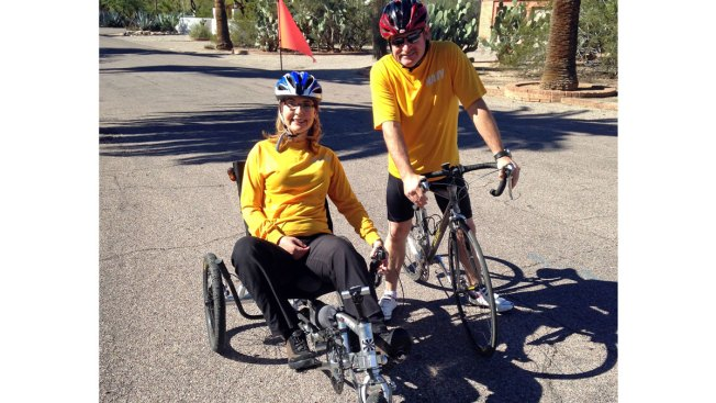Former Rep. Giffords Riding 40-Mile Bike Tour in Arizona
