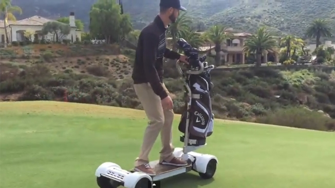 Poway Golf Course Adds 'Golfboards' to Get Around Green