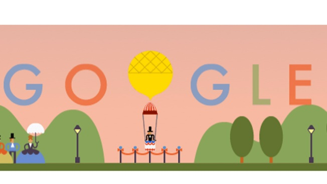 Google Doodle Celebrates World's First Parachute Jump