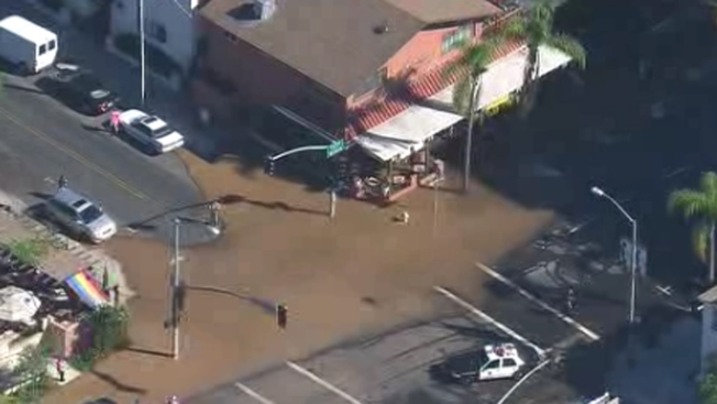 Water Main Break Causes Flooding in Hillcrest