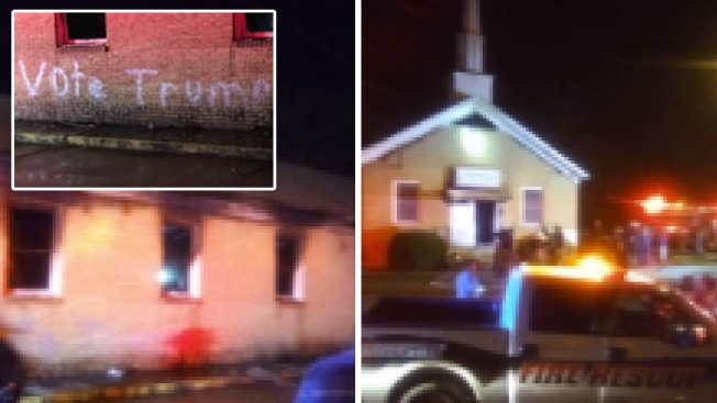 Scorched Miss. Church Vandalized With 'Vote Trump' Message