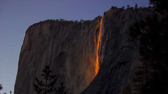 Wowza Sight: Horsetail Fall in February