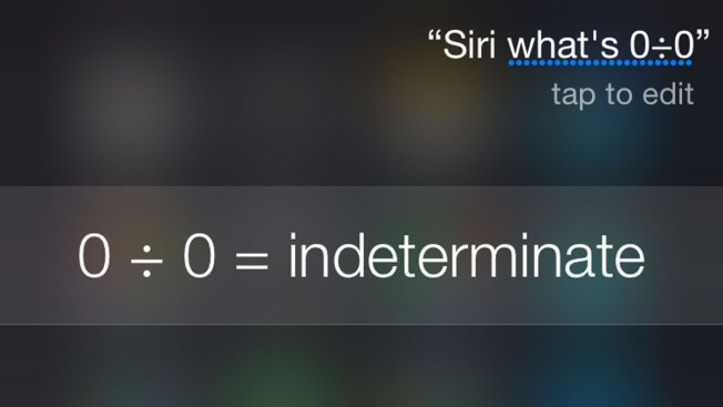 Ask Siri to Divide Zero By Zero, Get Incredible Response