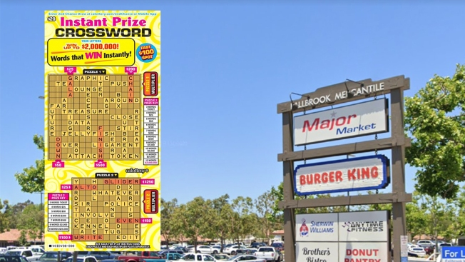 Man Wins $2M With Lucky Lottery Scratchers Ticket Bought at Fallbrook Grocery Store