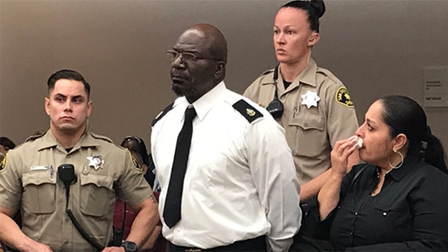Retired US Navy Service Member Takes Off Uniform at Assault Sentencing