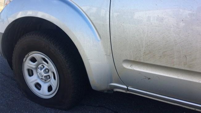 Vandals Slash Tires Of 22 Cars In La Mesa Pd Nbc 7 San Diego
