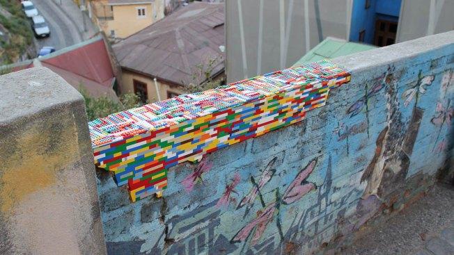 German Artist Uses Legos to Repair Buildings and Walls