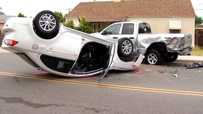Deputies: Driver Fell Asleep, Crashed Into Pickup In Lemon Grove