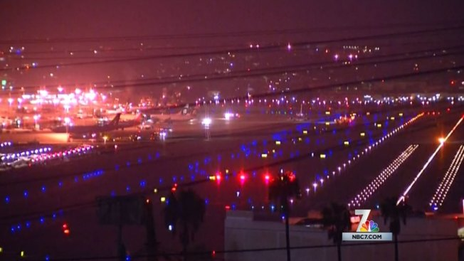 Airplane Has Trouble Landing at Lindbergh Field