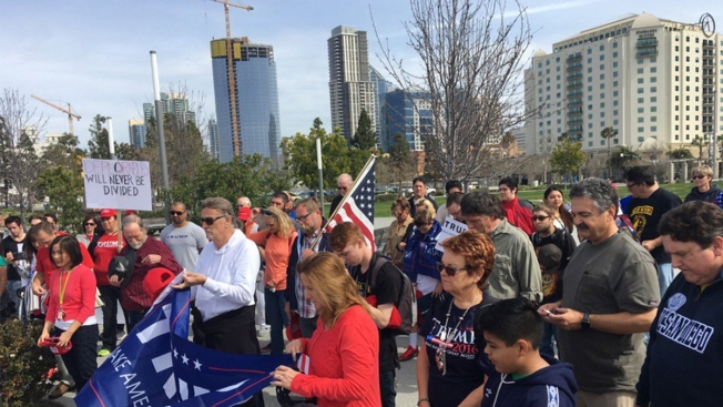 Hundreds rally to show support for Trump in Raleigh