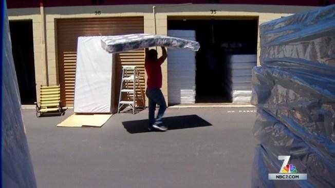 mattress bob does business out of storage unit nbc 7 san diego. Black Bedroom Furniture Sets. Home Design Ideas