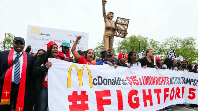 McDonald's Shuts Down Headquaters Amid Protests Over Wages