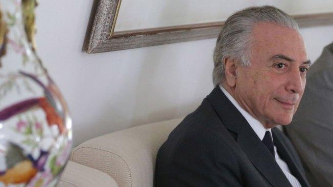 Brazil's Acting President Says Economy is Priority