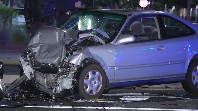 Police Pursuit Ends in Multi-Car Crash