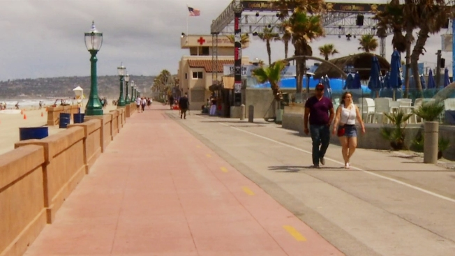 Chargers Make Unexpected Kicking Change Nbc7 The Newly Renovated Section Of Mission Beach Boardwalk