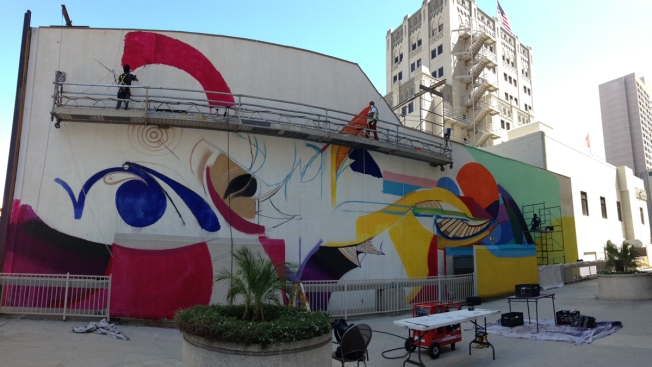 Downtown Gets New, Colorful Mural
