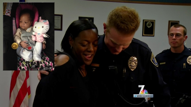 Mom Reunites with SDPD Officers That Saved Baby's Life