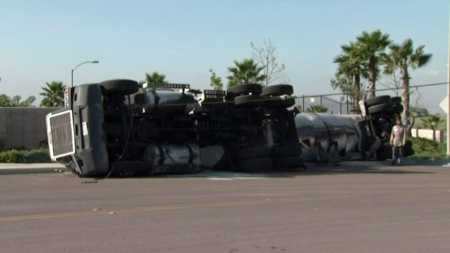 Oil Tanker Overturns in South Bay