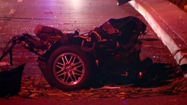 "Car ""Split in Half"" in Fatal Oceanside Crash"