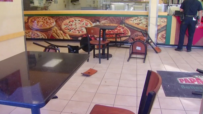 PD: Man Trashes Pizza Place, Assault MTS Officer