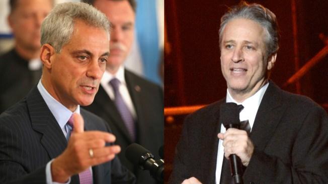 Rahm Emanuel Sends Jon Stewart Dead Fish Pizza