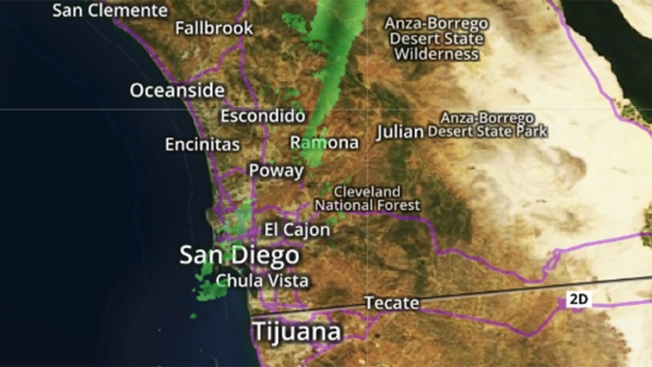 After Long Dry Spell San Diego Gets Some Drizzle NBC San Diego - Live doppler radar san diego