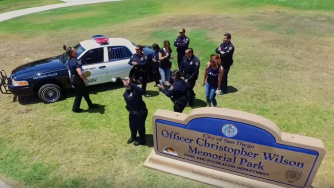 San Diego Police Take on 'Running Man Challenge'