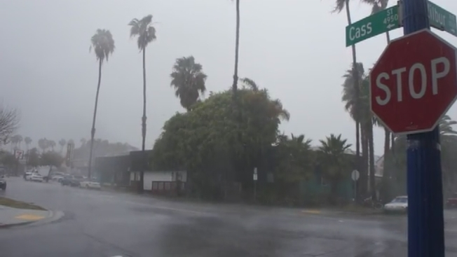 Fast-Moving Storm Sweeps Through San Diego County