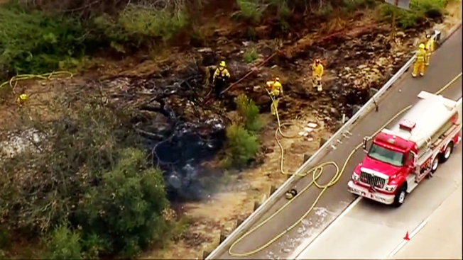 Fire Scorches Grass Along State Route 52 - NBC 7 San Diego