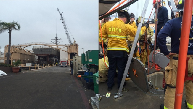 U.S. Navy Seaman Falls 20 Feet Into Ship Near Naval Base San Diego
