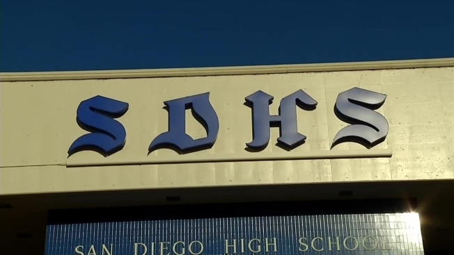 Historic Neon Sign Replica Lit at San Diego High School