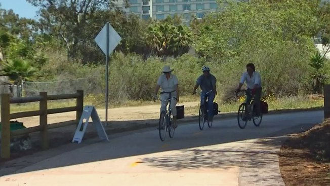 San Diego River Trail Bike Path Opens