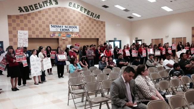Elementary School Teachers Protest Pay Cut