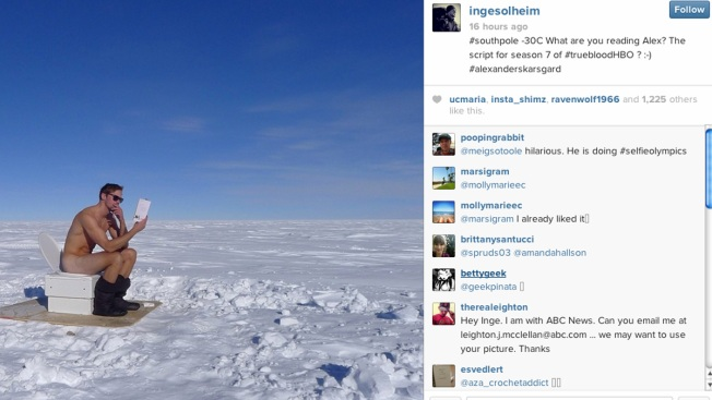 Alexander Skarsgård Poses Fully Nude After Reaching the South Pole in Antarctica