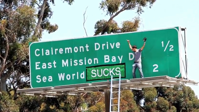 PETA Vows to Pay Any Fines Against 'Jackass' Star in SeaWorld Sign Change