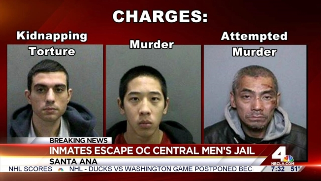 One Of 3 Escaped Inmates From OC Jail Has San Diego Ties